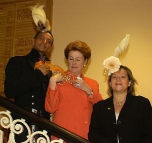 Louis Mariette, Lady Anson & Angie Davidson