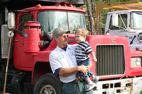Walker, Pops and a Dump Truck