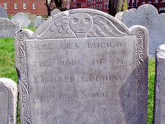 grave architecture (brainware3000) Tags: grave boston skull headstone cemetary freedomtrail northend coppshillburyingground 1756 whodiedsuddenly richardgooding