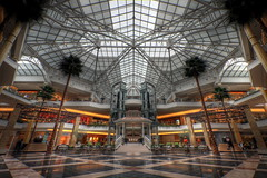 Somerset Mall Atrium (country_boy_shane) Tags: people architecture mall shopping lights shoes suburban michigan interior rich hell suburbia malls troy arches somerset cash collection toddlers screaming atrium foodcourt beams annoyed canon30d canonefs1022mmf3556usm