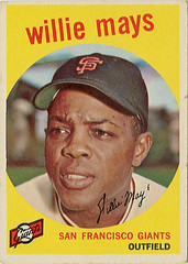 Willie Mays (twm1340) Tags: sanfrancisco sports cards athletics baseball giants players topps 1959 mlb outfield williemays sayhey