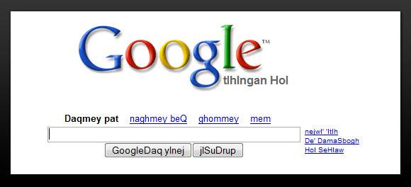 Google Search Klingon