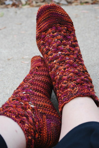 Cables and Lace Socks