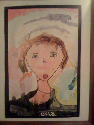 Eldest Daughter's self-portrait ... age 5