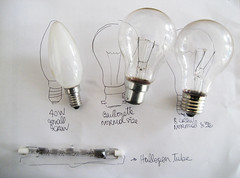 Lightbulb shopping list