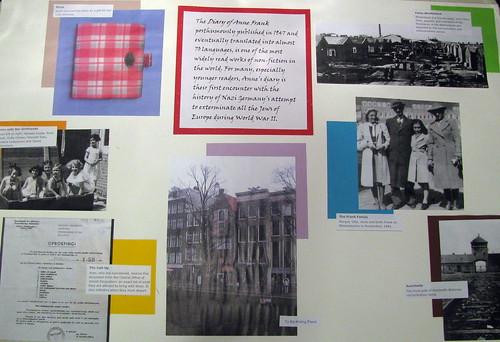 Exposition dans le musée d'Anne Frank à Amsterdam