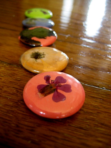 pressed flower buttons