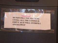 East Croydon Station - Coffee machine