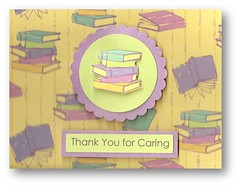 Teacher Appreciation Card (dluxedesigns) Tags: green thankyou purple contemporary books retro appreciation teacher chic handmadecard dluxedesigns