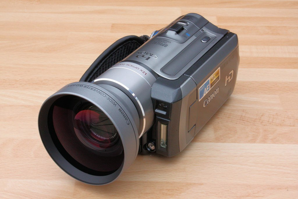 Canon HF100 (STOLEN) with WD-H37C Wide Converter hd (STOLEN!)