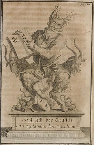 Nebst denen Neukirchischen Satyren - Gottfried Benjamin Hancke 1750 (HAB) (Satyr)