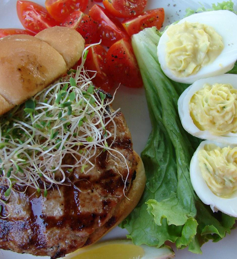 iron stef: Tuna Burgers and Wasabi deviled eggs