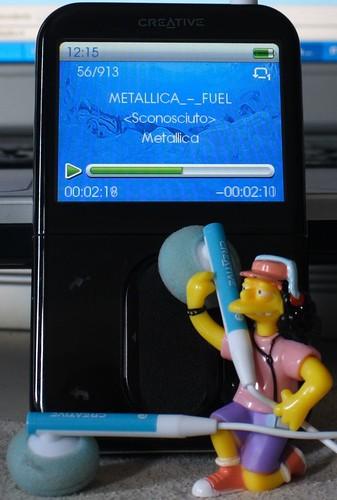 Otto listening Metallica
