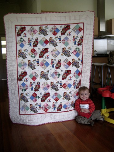 Lochie and his quilt