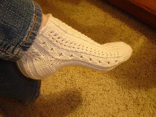 Ravelry Bamboo Lace Socks Pattern By Lara Teter
