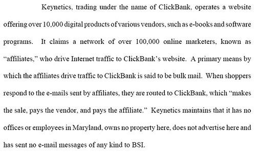 Keynetics/Clickbank lawsuit