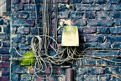 wires and a wall