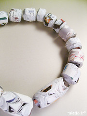paper necklace (*MIETTE) Tags: paper necklace colours contemporary jewelry recycle
