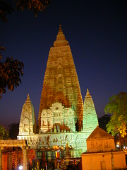 Mahabodhi Temple at dusk 6