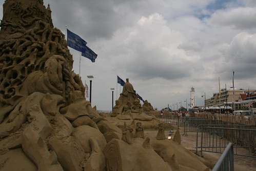 Sand sculptures at European Sand Sculptures Festival