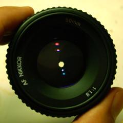 50mm f/16 lens front