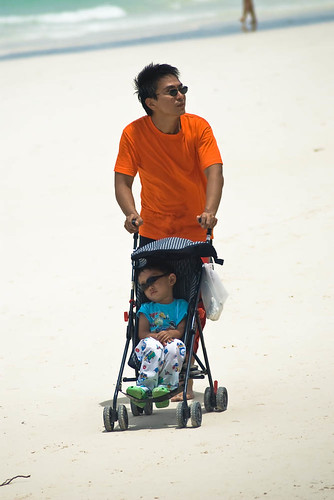 Bora Dad Strolling with Kid