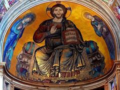 The Christ - Main vault of the Cathedral of Pise Italy