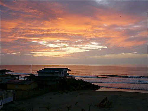 Ecuador-beachfront-condo-sunset