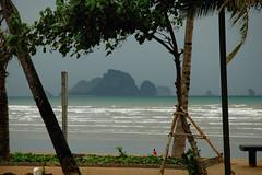 Krabi Surf And Islands (aeschylus18917) Tags: ocean blue trees sea beach nature landscape thailand islands sand nikon scenery surf waves d70 palm thai tropical nikkor 1870mm krabi f3545g andamansea 1870  1870f3545g ratcha karsthills  krabiriver  anachak nikkor1870f3545g dani