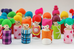 kokeshi dolls (::smyii::) Tags: cute miniature diy wooden doll paint handmade craft fimo fabric cotton clay tiny kawaii kokeshi polymer