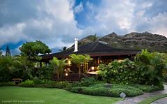 Halekalana (House of Serenity)-Main House Exterior (Rex Maximilian) Tags: hawaii oahu residence lanikai polehouse woodfinish