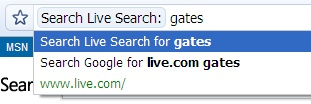Live Search From Chrome
