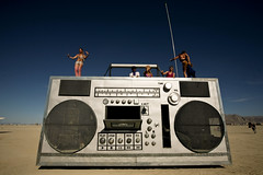 box of boom (sgoralnick) Tags: festival desert nevada playa burningman blackrockcity brc boombox artcar blackrockdesert rockbox mutantvehicle burningman2008 burningman08 bm08