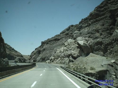 Interstste through Virgin River Gorge Arizona