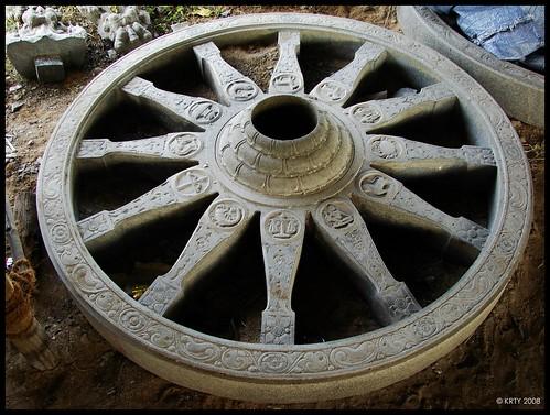 Manimandapam - A Wheel made of single stone