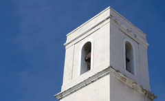 Cathedral of San Juan Bautista, Old San Juan, Puerto Rico (jogorman) Tags: old blue sky white tower church bells san cathedral juan bell puertorico bautista jamesogorman