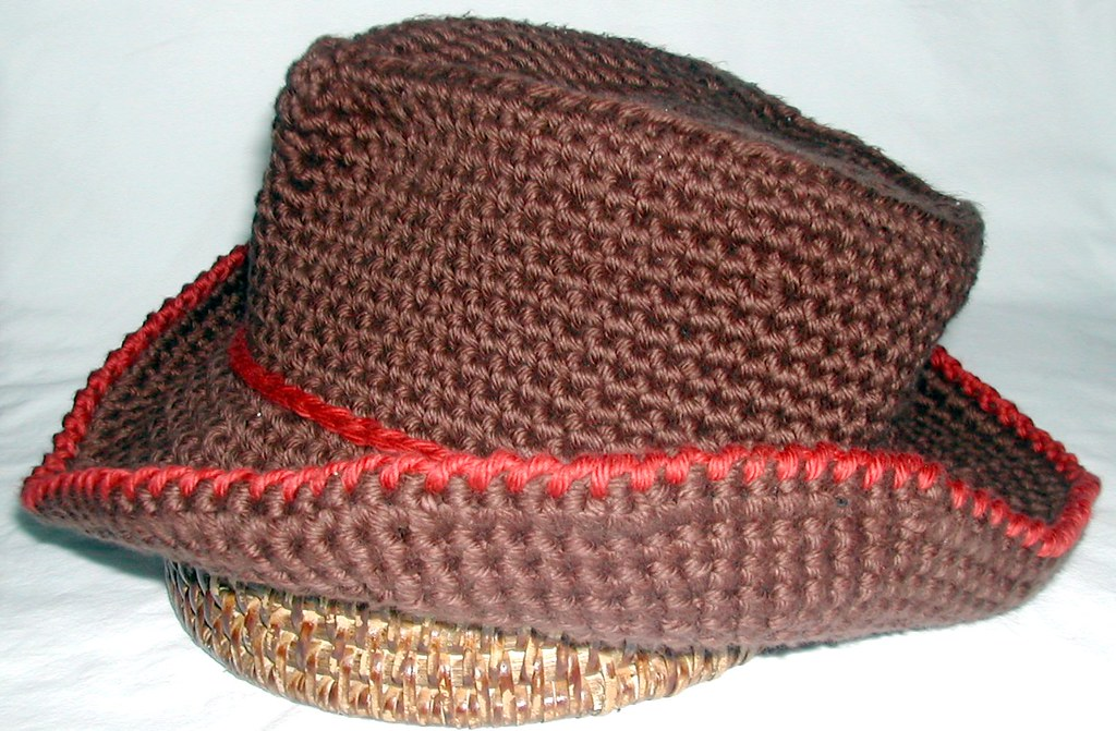 Free Crochet Cowboy Hat Pattern For Adults : COWBOY HAT CROCHET PATTERN Patterns