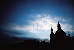 alone (kygp) Tags: trip sky colour analog 35mm photography lomography republic czech prague lka praha praga nobody ciel ph lk contrejour
