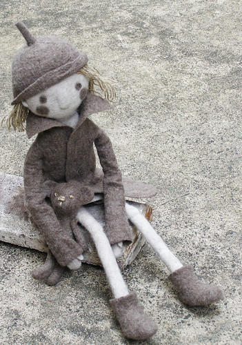 Doll outside by fingtoys.