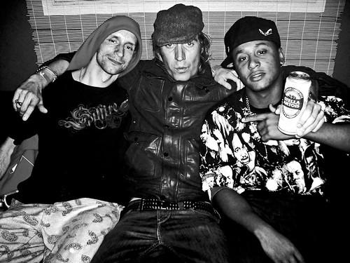 Ruff, Rhys Ifans & Fozzy backstage