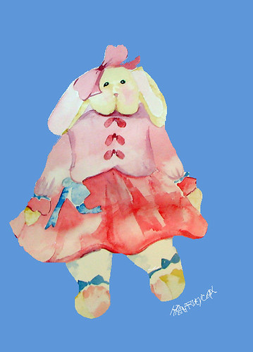 Bunny-with-blue-background