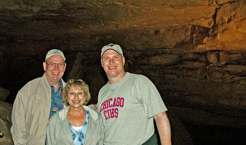 Brent and His Parents Caving