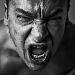 I'm Feeling Angry Today (liber) Tags: portrait man sol self mouth photo open power expression anger angry mad screaming loud fury pissedoff savedbythedeletemeuncensoredgroup screamingoutloud xpression insaneindamembrane extremeexpression