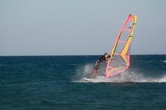 Splash (Ekaterina Pimenova Photography) Tags: blue sea summer sky water colors sport canon surf wind move greece windsurfing rhodes prosonissi