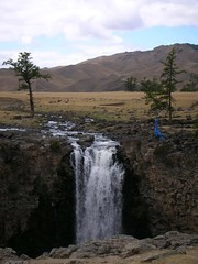 Waterfall on the Onggi River