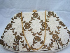 Vintage 50's Beaded Evening Bag by Magid (The Vintage Peddler) Tags: 60s fifties 50s etsy handbag sixties vintagepurse peddlingpurses thevintagepeddler