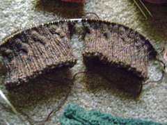 Brotherly Love Socks.. a modification of the Irish Hiking Scarf pattern