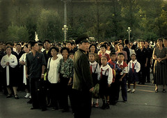 Foreigners first! North Korea. (ShanLuPhoto) Tags: people waiting north korea kimjongil northkorea dearleader pyongyang dprk kimilsong    maydaystadium