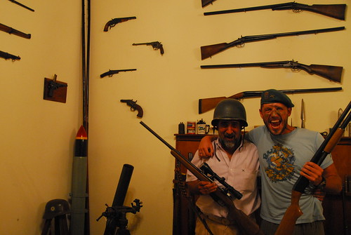 Enrique and Eddie in the Gunroom