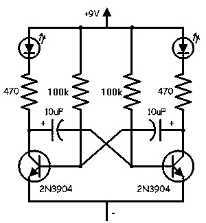 Ayuda, circuito con led